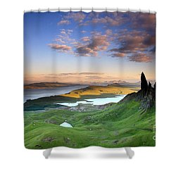 Shower Curtain featuring the photograph  Scotland Old Man Of Storr Isle Of Skye by Mariusz Czajkowski