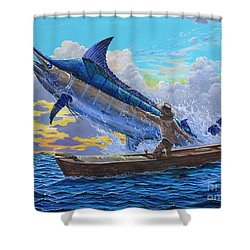Old Man And The Sea Off00133 Shower Curtain by Carey Chen
