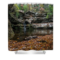 Old Mans Cave Shower Curtain by James Dean