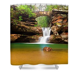Old Man's Cave Upper Falls Shower Curtain