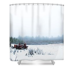 Old Manure Spreader Shower Curtain by Cheryl Baxter