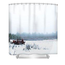 Old Manure Spreader Shower Curtain