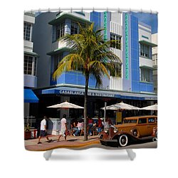 Old Miami Shower Curtain by David Lee Thompson