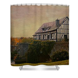 Old Mill On The Broken Bridge At Vernon Shower Curtain