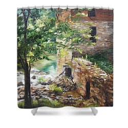 Old Mill Stream I Shower Curtain