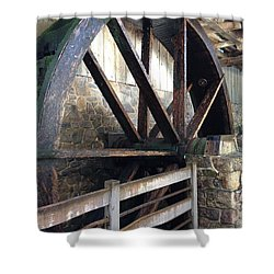 Shower Curtain featuring the photograph Old Mill Water Wheel by Jeannie Rhode