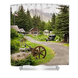 Old Mining Alaskan Town Shower Curtain
