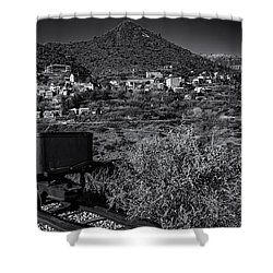 Shower Curtain featuring the photograph Old Mining Town No.23 by Mark Myhaver