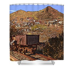 Shower Curtain featuring the photograph Old Mining Town No.24 by Mark Myhaver
