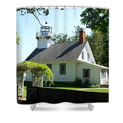 Old Mission Lighthouse Shower Curtain