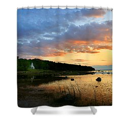 Old Mission Point Shower Curtain