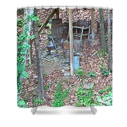 Old Mountain Still Shower Curtain