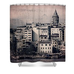 Old New District Shower Curtain by Joan Carroll