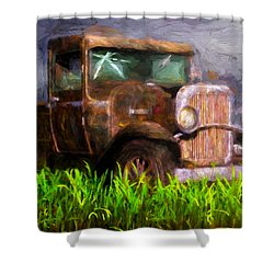 Old Pickup Shower Curtain by Bob Orsillo