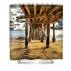 Old Pillar Point Pier Shower Curtain