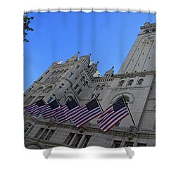 The Old Post Office Or Trump Tower Shower Curtain by Cora Wandel