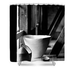 Old Pots At The Window Shower Curtain by Tommytechno Sweden