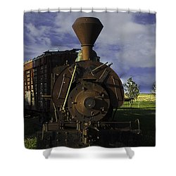 Old Prairie Train Shower Curtain