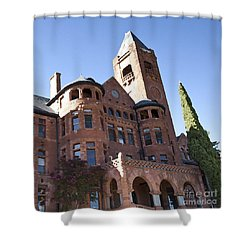 Shower Curtain featuring the photograph Old Preston Castle by David Millenheft