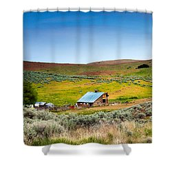 Old Ranch Shower Curtain by Robert Bales