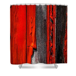 Old Red Barn Four Shower Curtain by Bob Orsillo