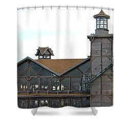 Old Restaurant                 Shower Curtain by Lorna Maza