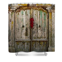 Old Ristra Door Shower Curtain