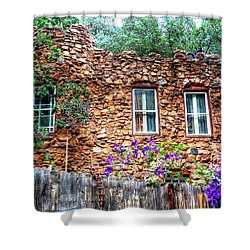 Shower Curtain featuring the photograph Old Rock House In Williams Canyon by Lanita Williams