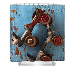 Old Roller Skates Shower Curtain by Garry Gay