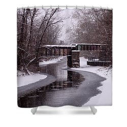The Nifti Railroad Bridge Shower Curtain