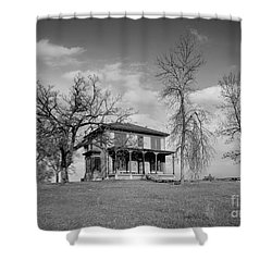 Old Rustic House On A Hill Shower Curtain