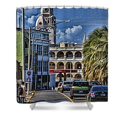 Old San Juan Cityscape Shower Curtain