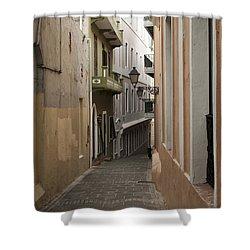 Old San Juan Street Shower Curtain