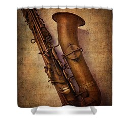 Old Sax Shower Curtain