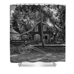 Old Scene-baker Wagon Shower Curtain by Darcy Michaelchuk