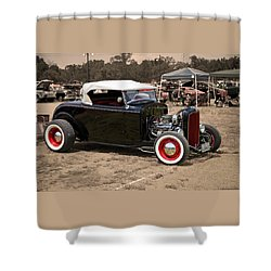 Old School Hot Rod Shower Curtain