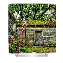 Old School House Shower Curtain by Darren Fisher