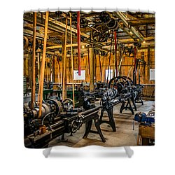Old School Machine Shop Shower Curtain by Paul Freidlund