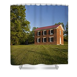 Old Schoolhouse Shower Curtain by Brian Jannsen