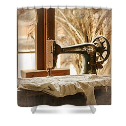 Old Sewing Machine Shower Curtain