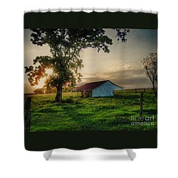 Old Shed Shower Curtain by Savannah Gibbs