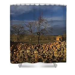 Old Shepherd's Hut Shower Curtain by Guido Montanes Castillo