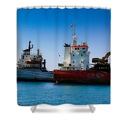 Old Ships Shower Curtain