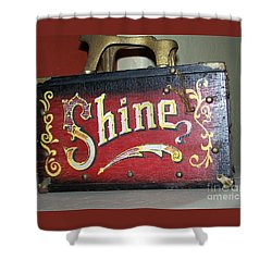 Old Shoe Shine Kit Shower Curtain