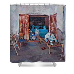 Old Shop Suakin Shower Curtain by Mohamed Fadul