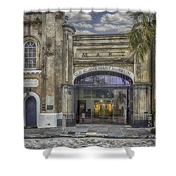Old Slave Mart Museum Shower Curtain by Lynn Palmer