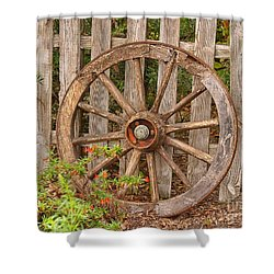 Old Spare Wheel Shower Curtain