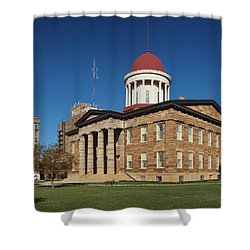 Old State Capital Springfield Illinois Shower Curtain