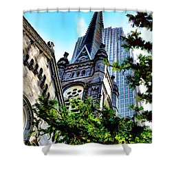 Shower Curtain featuring the photograph Old Stone Church - Cleveland Ohio - 1 by Mark Madere