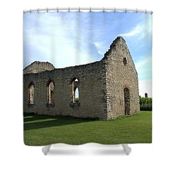 Old Stone Church 2 Shower Curtain by Bonfire Photography
